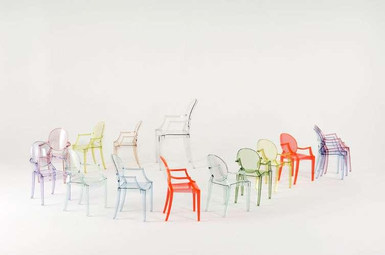 Kartell lou lou ghost sedia per bambini design stark ebay for Sedie plastica design kartell